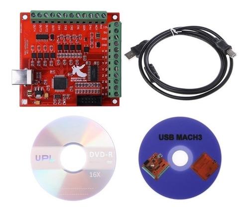 Imagen 1 de 6 de Tarjeta Control Mach3 Interfaz Usb 100khz 4 Ejes Board Cnc