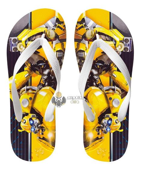Chinelo Transformers Bumblebee Fusca Volkswagen Carro Filme
