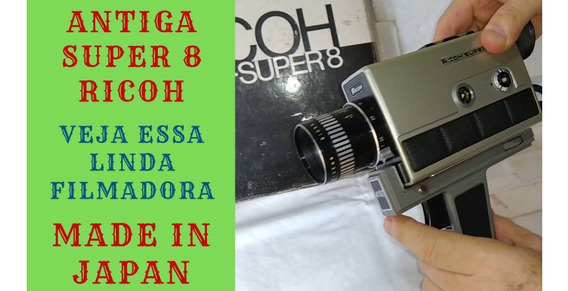 Câmera Filmadora Super 8 Ricoh 410z Made Japan Antiga (045)