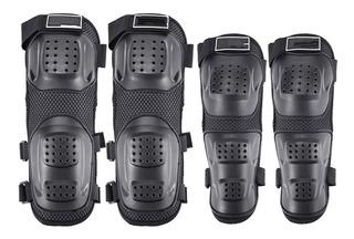 Rodilleras Y Coderas Protecciones Moto Patines Kit Completo