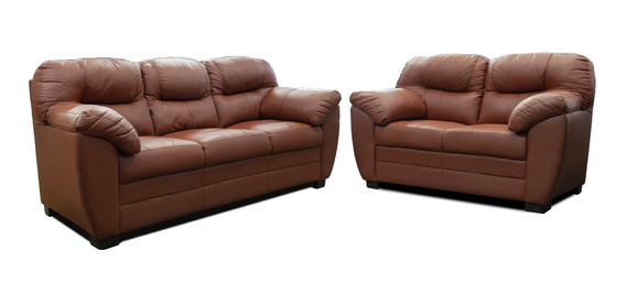 Sala De Piel - Toscana Sofa, Love Y Sillon - Conforto Mueble