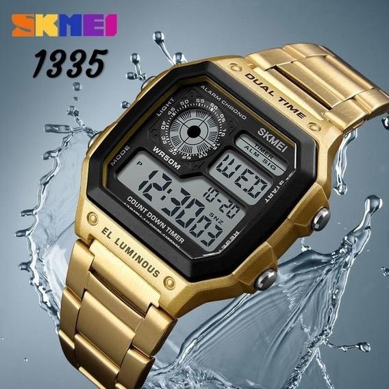 Relógio Skmei Unisex Lindo Dourado Resistente 50 Metros