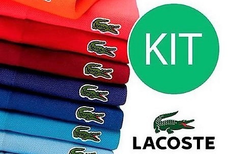 Kit 10 Camisas Polo Lacosste Cores E Tamanhos Variados