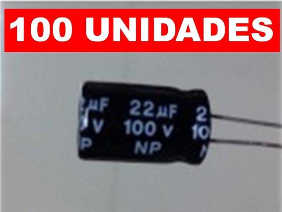 Kit 100 Capacitor Bipolar 22uf Para Driver ( Corneta )