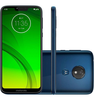 Aproveite! Moto G7 Power Azul Navi - 32gb | Seminovo
