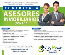 Empresa De Bienes Raíces Contrata Asesores Inmobiliarios.
