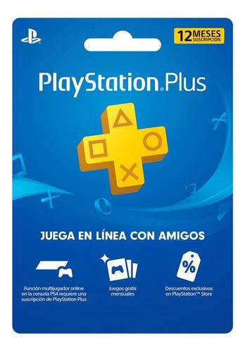 Imagen 1 de 1 de Mex-us Playstation Plus 12 Meses Multi-region Ps5 Ps4 Ps3