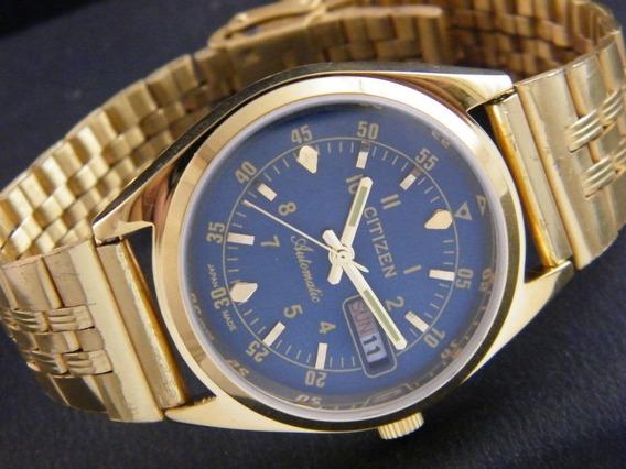 Reloj Vintage De Pulsera Citizen Chapa De Oro Hecho En Japón
