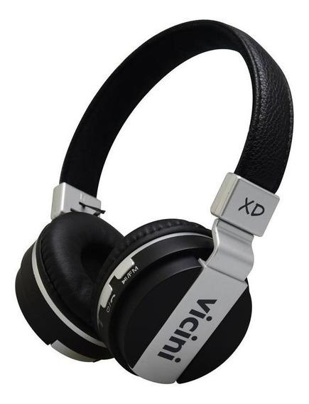 Fone De Ouvido Headphone Preto Vc-71p Sem Fio Original