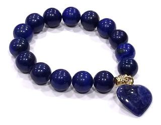 Pulseira Com Esferas De Pedra Lápis Lázuli Boas Energias F54