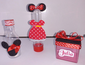 Minnie Vermelha Kit Festa Infantil Personalizado - 60 Peças