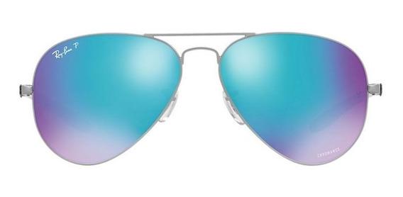 Ray Ban 8317 Chromance Gunmetal Azul 029/a1 58-14 Polarizad