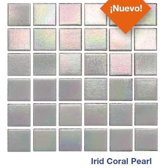 Mosaico Para Alberca Irid Coral Pearl Marca Diamond 2 X 2 Cm