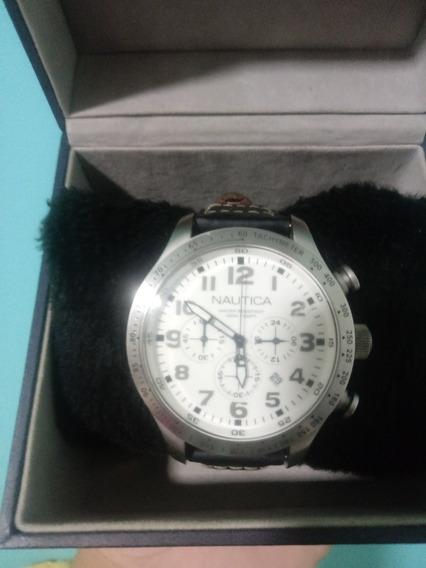Relógio Nautica Colectionador Couro A15539g