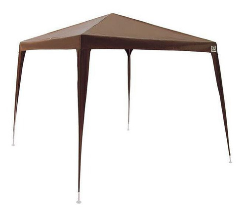 Tenda Gazebo 3x3 Polietileno Marrom Bel Fix