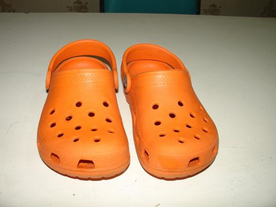 Sapato Crocs Laranja Tamanho 10 11 Emborrachado Tamanho 26