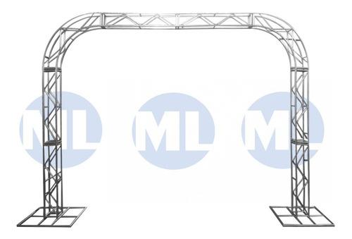 Imagem 1 de 4 de Treliças Kit Trave Box Truss Q20 Aço 2,75x3,5m Curva