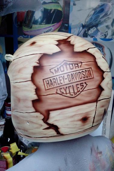 Capacete Old School Harley Davidson Jack Daniel