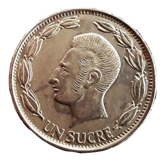Ecuador Moneda De 1 Sucre Del Año 1970 - Conmemorativa
