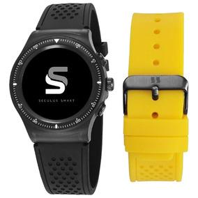 Relógio Seculos Smartwatch Masculino Silicone 79000gpsvpv1