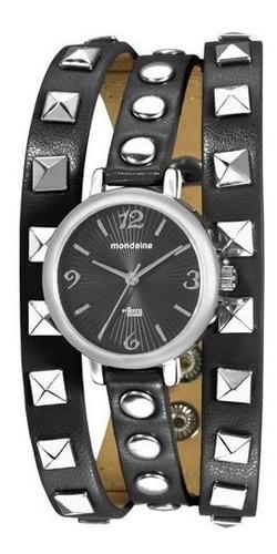 Relógio Feminino De Pulso Preto Mondaine 76358l0mvnh1