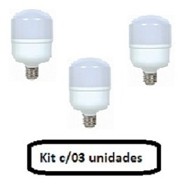 Lampada Led Alta Potencia 30w - Kit C/03 Unidades