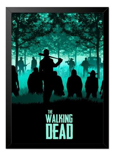 Imagem 1 de 1 de Quadro Poster The Walking Dead Negan 33x23cm