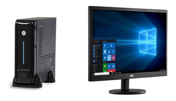 Computador Dualcore J3060 4gb 120gbssd W.10+monitor Aoc18,5
