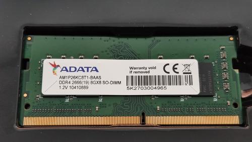 Memória Ram Ddr4 8gb So-dimm 2666mhz Adata Para Notebook