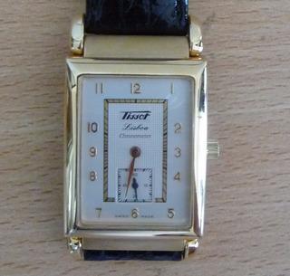 Reloj Tissot Lisboa Oro Impecable Con Certificado Cronómetro