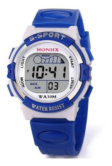 Relógio Infantil Honhx W50 Azul + 01 Brinquedo
