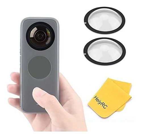 Imagen 1 de 6 de Tapa De Lente - Heiyrc Dual Lens Guards For Insta360 One X2