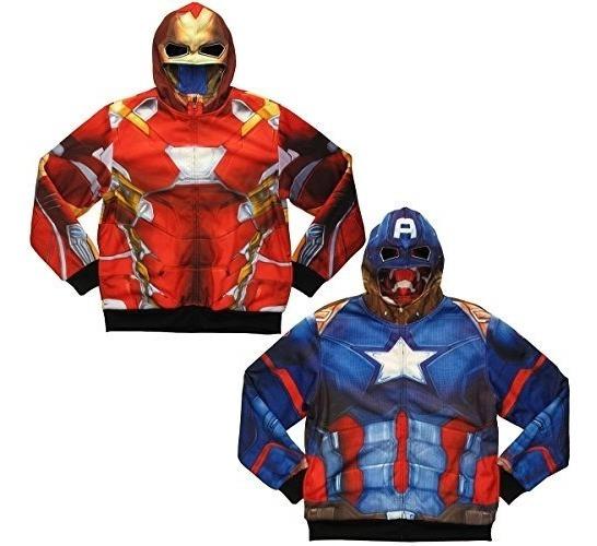 Capitan America, Iron Man Reversible Hoodie Guerra Civil 2x