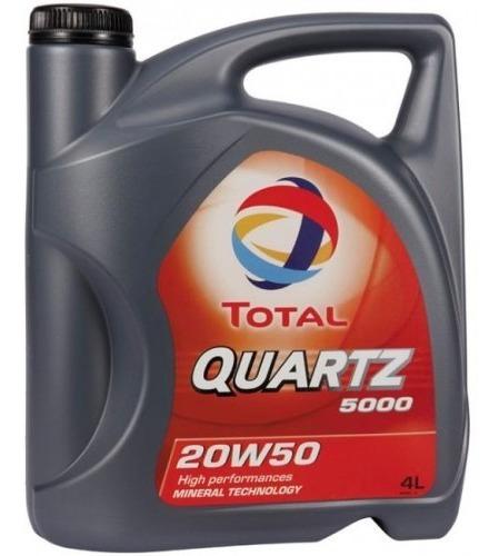Aceite 20w50 Mineral Total Quartz 5000 Nafta Diesel 4 Lt