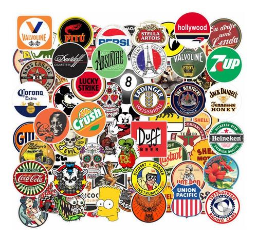 64x Adesivos Desenho Retrô Bebidas Nostalgia Antigo Nerd 5