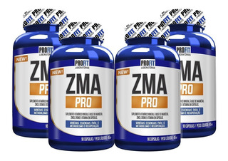 4x Pré Hormonal Testosterona Zma Pro C/ Cromo 90cap - Profit
