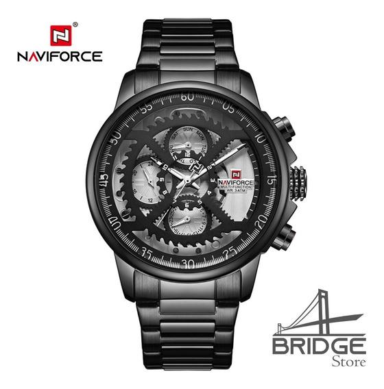 Relógio Naviforce 9150 Luxo Premium Res. À Água Original