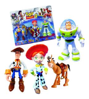 Toy Story 4 Muñecos X4 Personajes 20 Cm Articulados Con Luz!