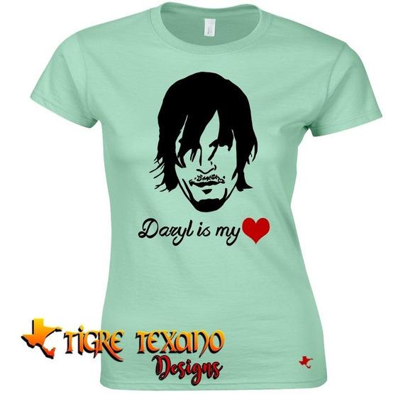 Playera The Walking Dead Daryl Cora By Tigre Texano Designs