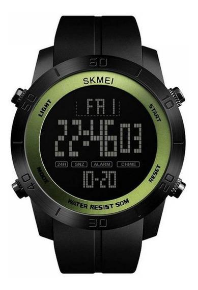 Relógio Masculino Skmei Digital Preto E Verde Militar+ Caixa