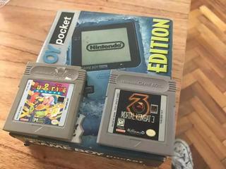 Game Boy Pocket Limited Edition Ice Blue Único
