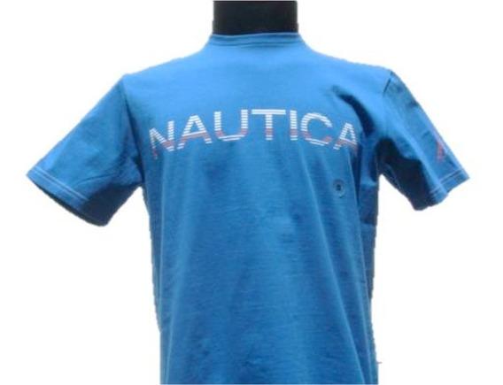 Playera Nautica Azul Eléctrico