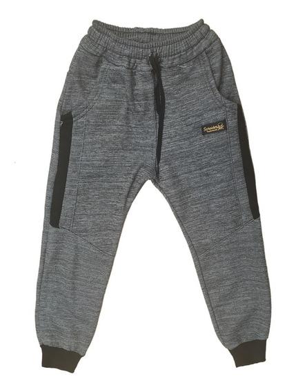 Pantalon Babucha Combinado Doble Frisa Niños