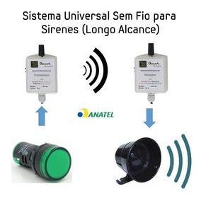 Sirene Sem Fio Longo Alcance Wireless