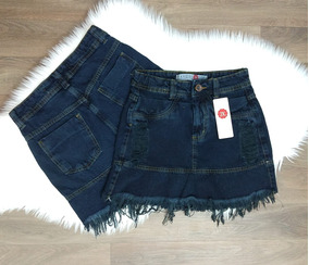 Saia Jeans Hot Pants Destroyed
