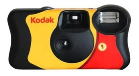Camera Fotográfica De Uso Único Kodak Com Flash Descartavel