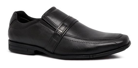 Sapato Social Ferracini Bristol Pl 3165-220g Couro Preto