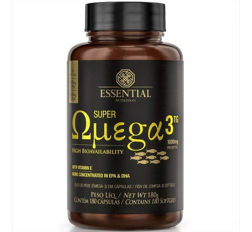 Super Ômega 3 Tg 1000mg (180 Caps) - Essential Nutrition