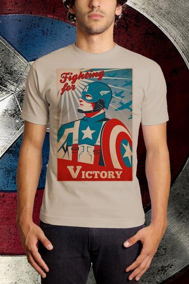 Camiseta Capitão America Vingadores Retrô
