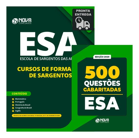 Kit Apostila Esa Sargento + Caderno 500 Questões Esa Livro